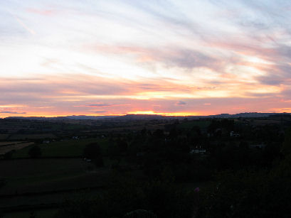 Sunset from bottom of Coppet Hill